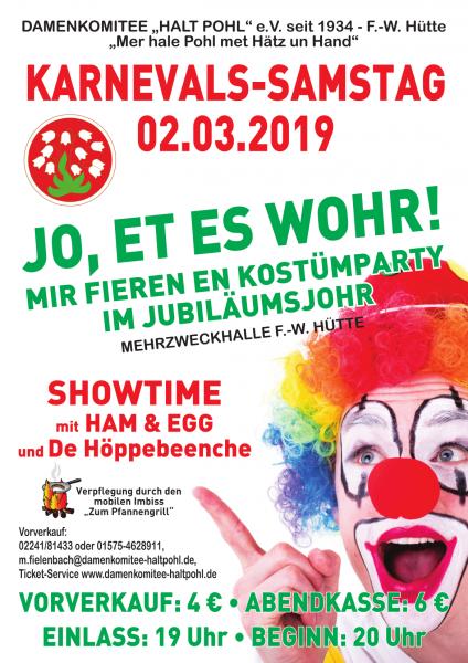 Damenkomitee Halt Pohl FWH e.V. - Kostüm Party